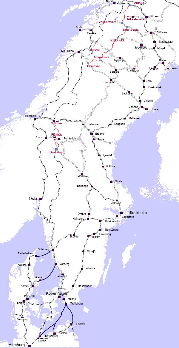 kungsleden karte Unterwegs im Norden » FAQ: Anreise zum Kungsleden